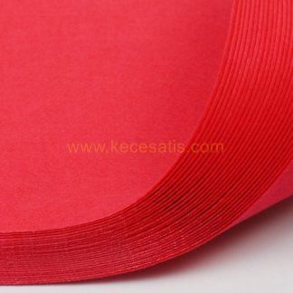1mm Gül Kırmızı renk ince sentetik keçe