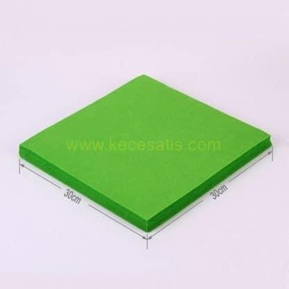1mm Parlak Yeşil renk ince sentetik keçe