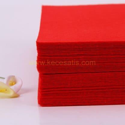 1mm Kırmızı renk ince sentetik keçe