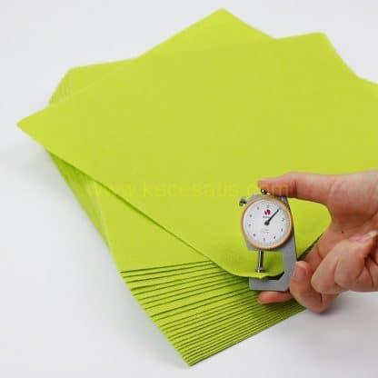 1mm Sarı Yeşil Renk ince sentetik keçe